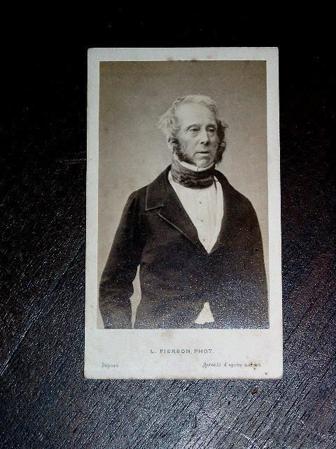 PHOTOGRAPHIE - Sir Henry John TEMPLE, Lord PALMERSTON - PIERSON