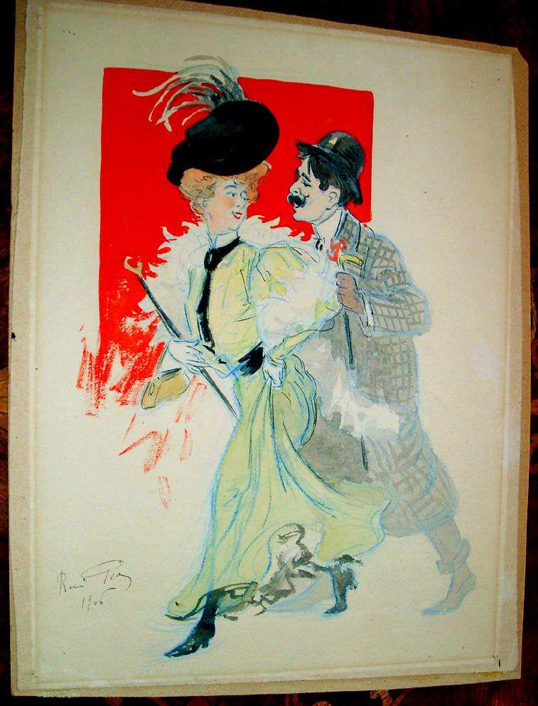 Aquarelle Originale - PÉAN (René Louis) (1875-1945)