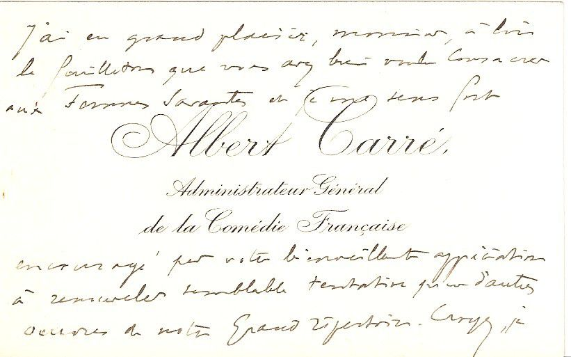 CARRE (Albert).