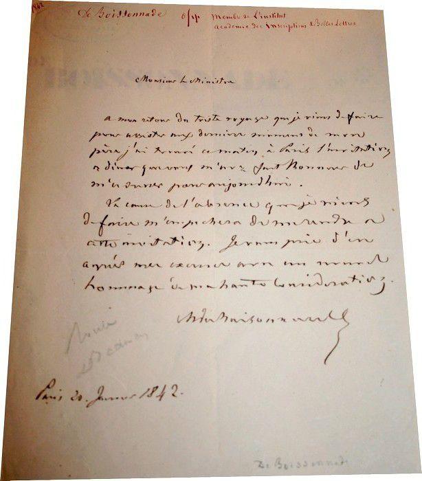 BOISONNADE de FONTARABIE (Jean François)