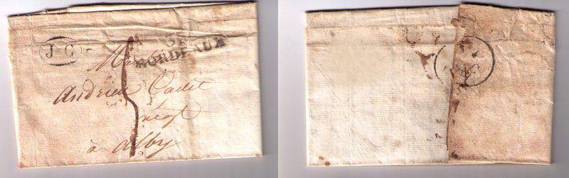 Lettre XIXe siècle avec Oblitération