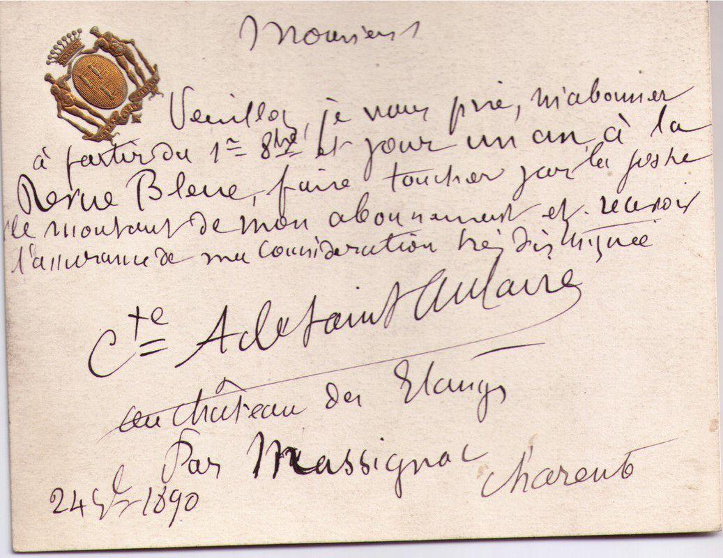 SAINT-AULAIRE (Comte de )