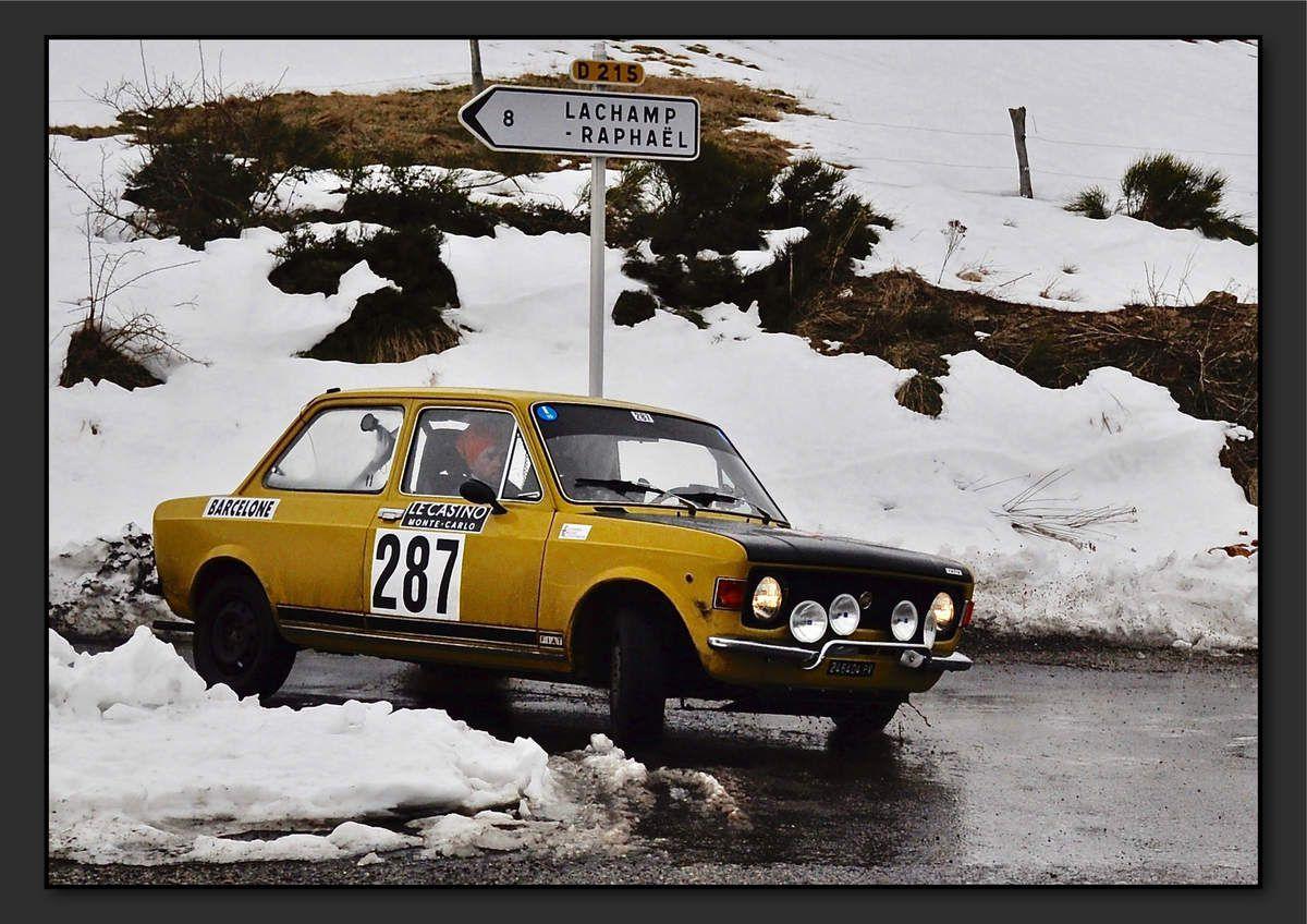 Gian Mario FONTANELLA (ITA) Stefano SCRIVANI (ITA) - Fiat 128 Rally de 1971 - 3ème classement final