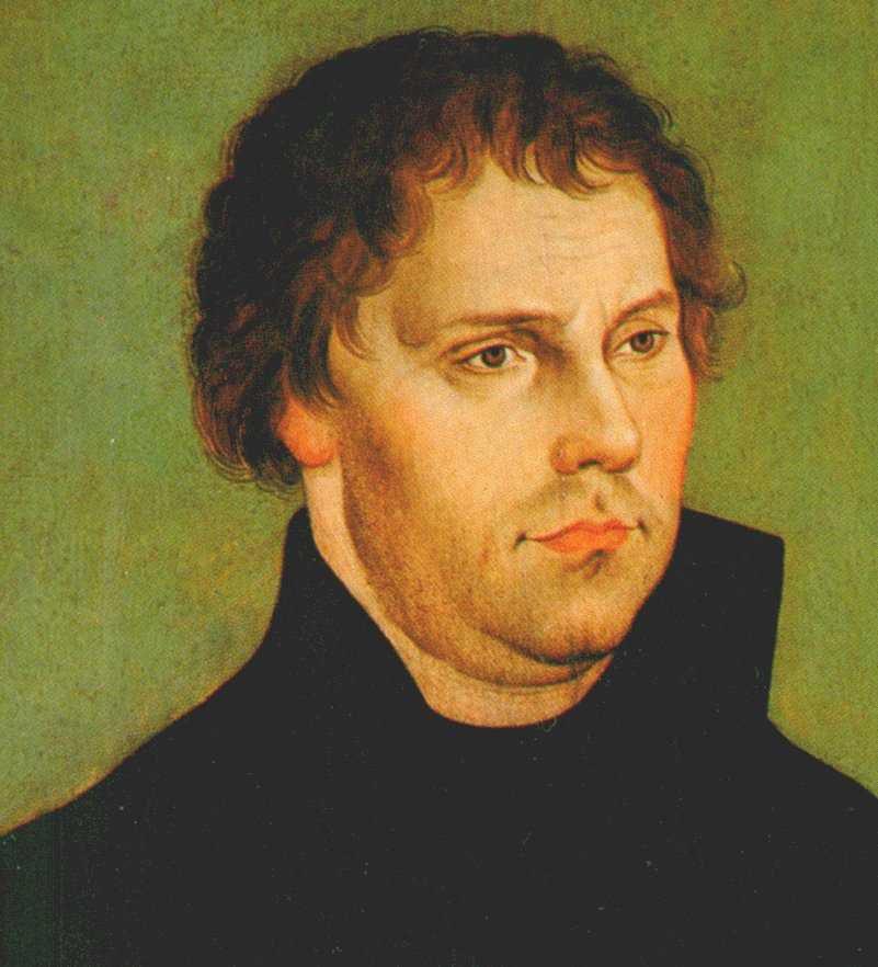 Martin Luther  -  Bildnis von Lucas Cranach der Ältere