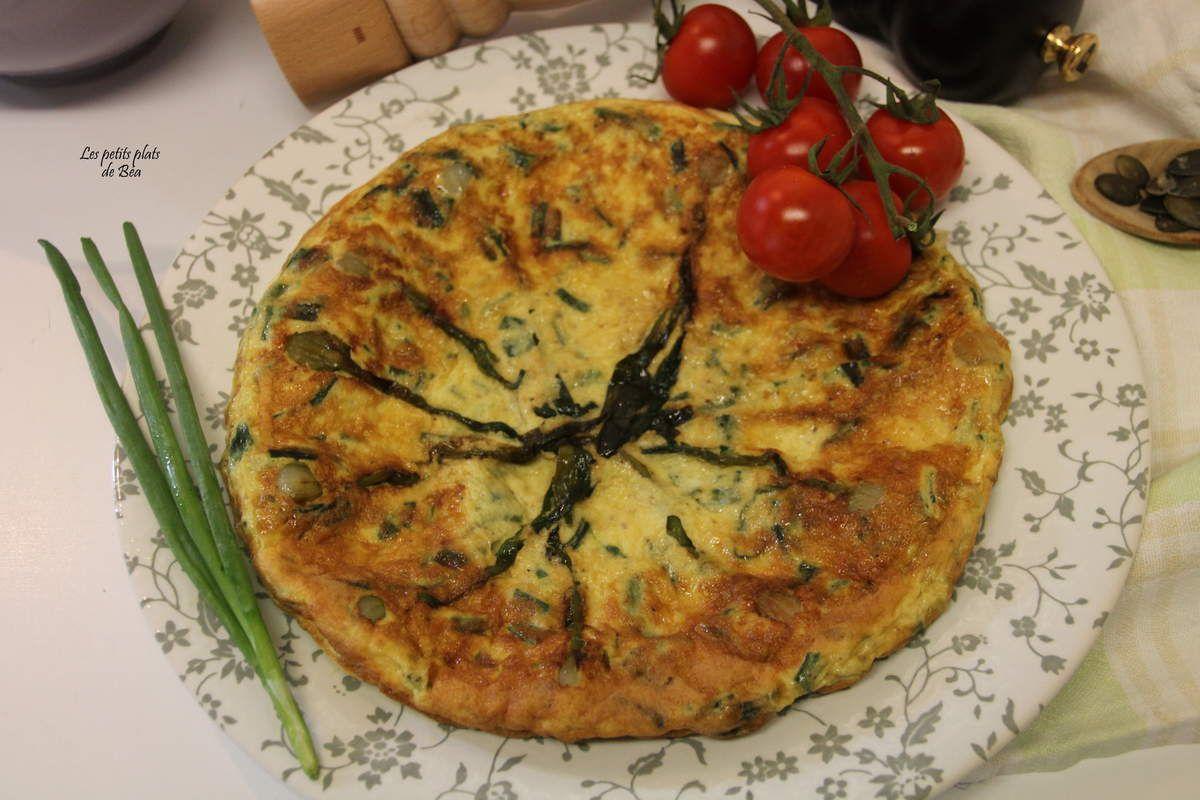 Omelette aux oignons nouveaux