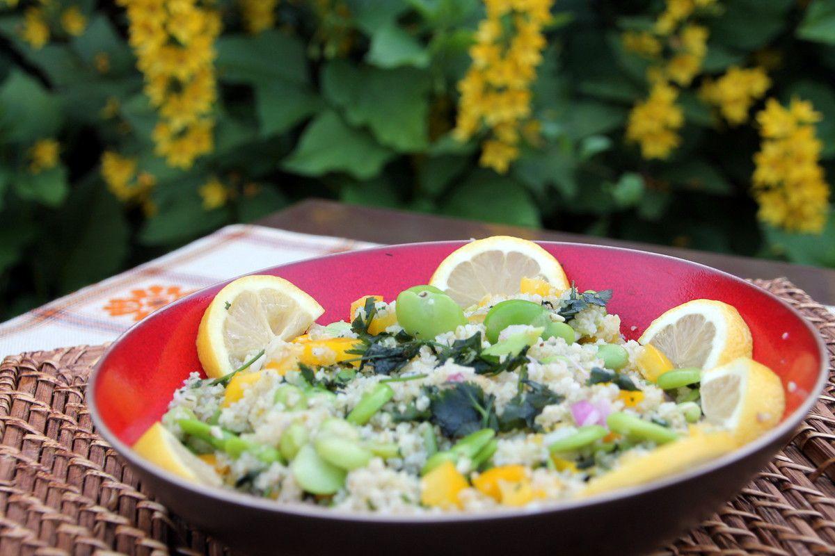 Salade de blé vert concassé