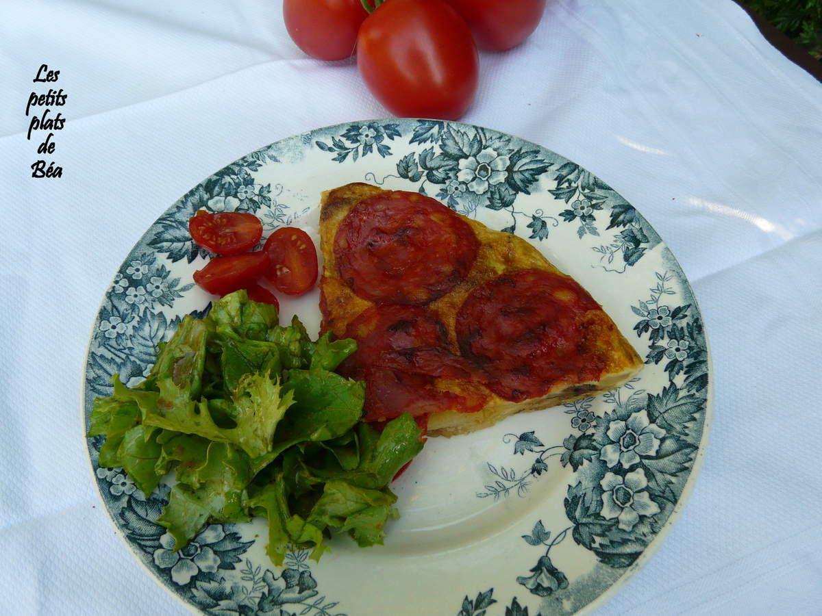 Tortilla au chorizo - Andalousie (2) Cordou