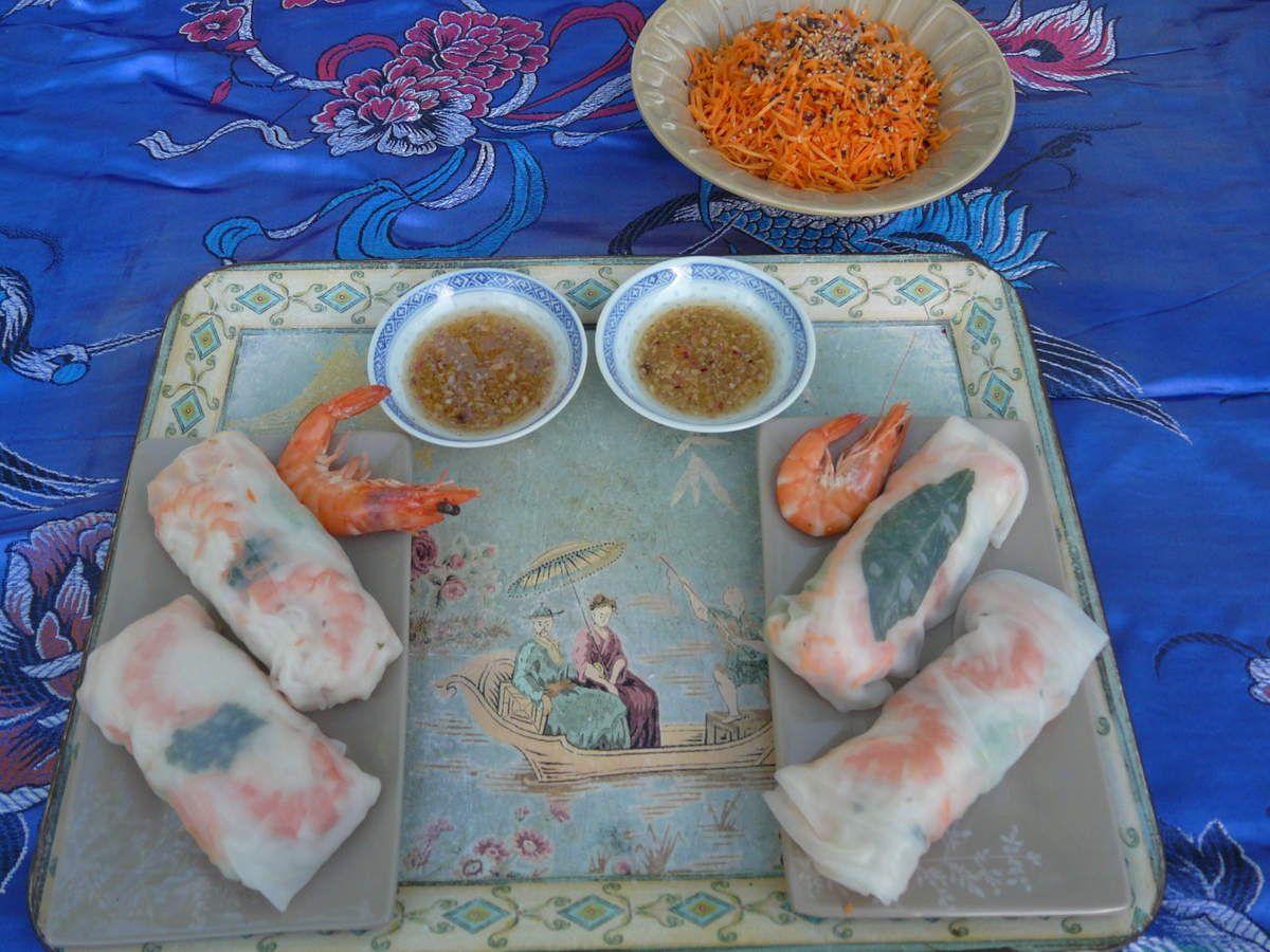 Rouleaux de printemps, carottes à la vietnamienne- Vietnam (3) Hoï An