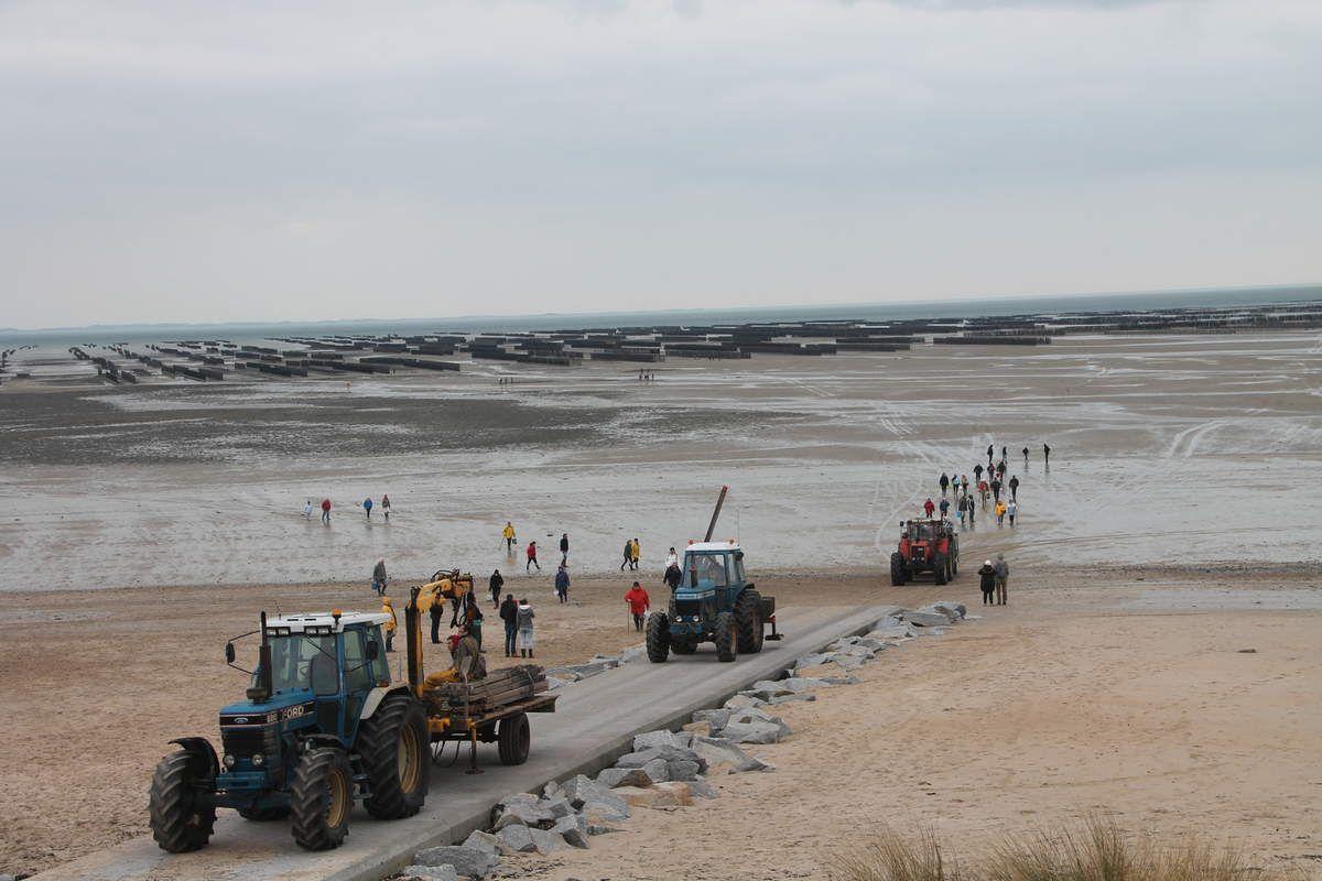 Oeuf poché à la marinière - Normandie (1) La plage de Bricqueville sur Mer en Normandie