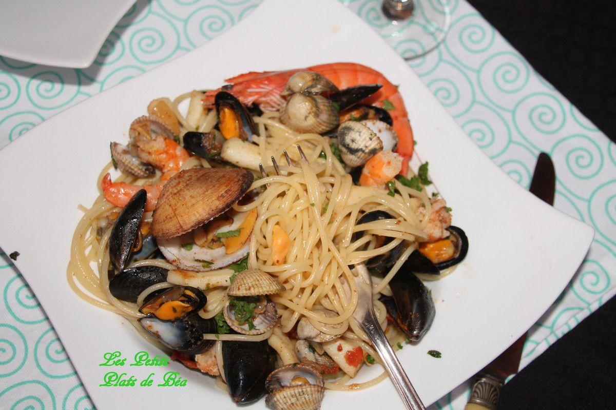Spaghetti aux fruits de mer et à la poutargue- Sicile (3) Palerme