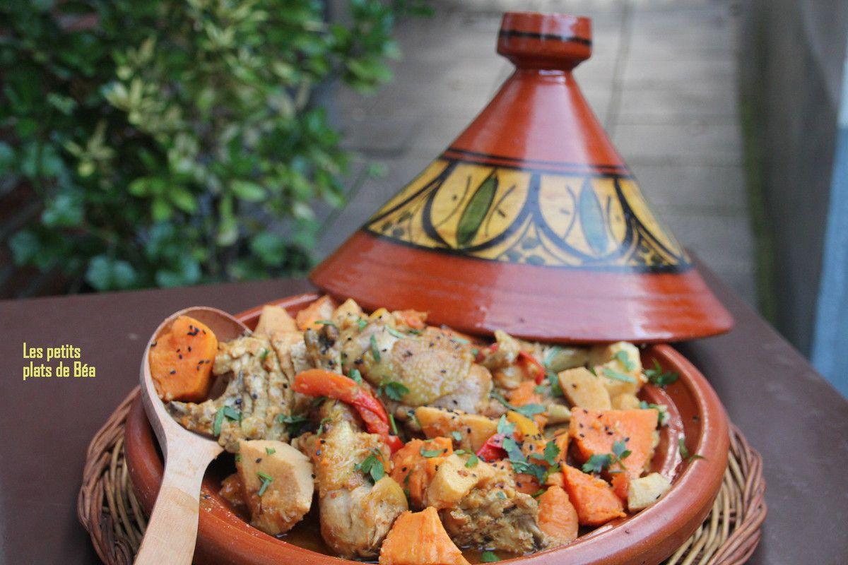 tajine poulet  coings et patates douces - Djerba (1)