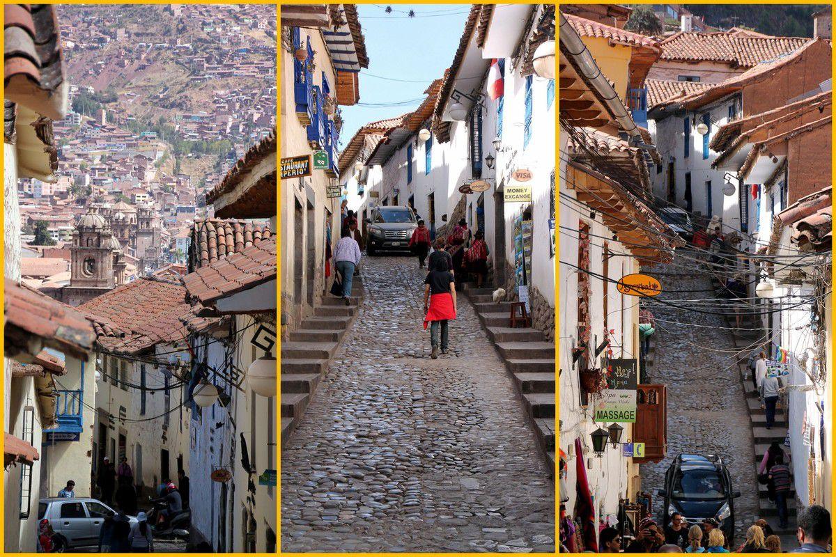 Les ruelles escarpées du quartier San Blas