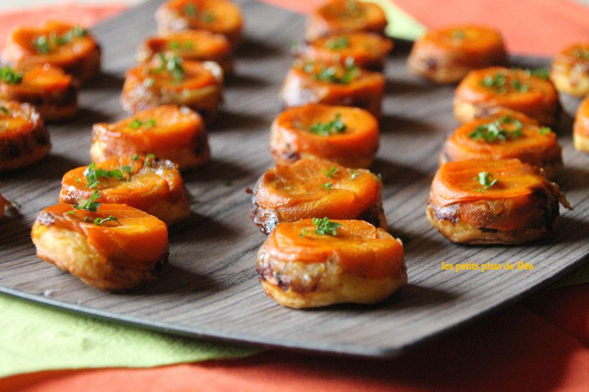 Mini-tatin de carottes au cumin