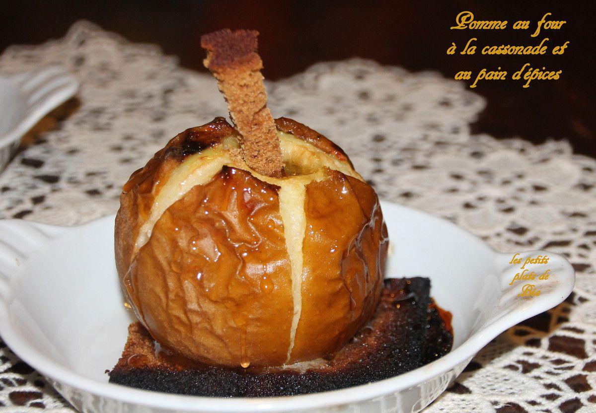 Pommes au four à la cassonade et au pain d'épices