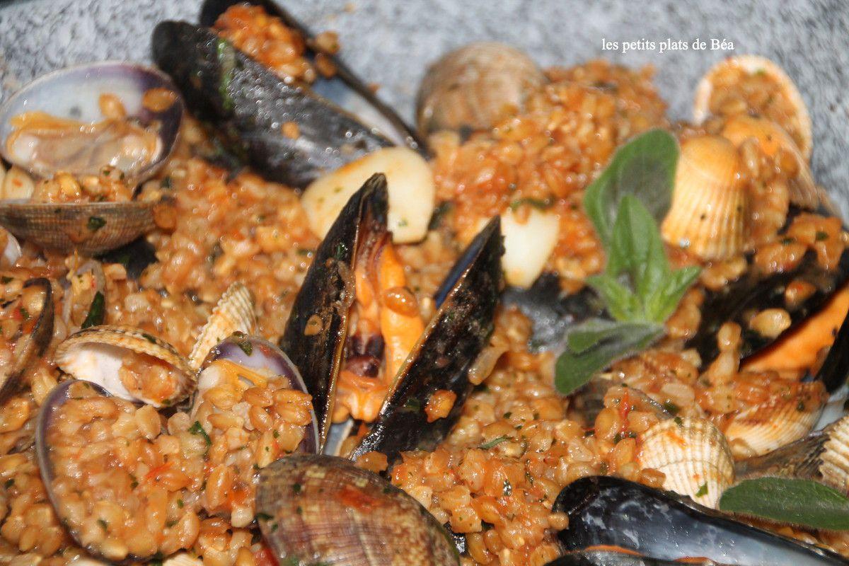 Petit épeautre aux fruits de mer - Italie les Pouilles (1) Monopoli