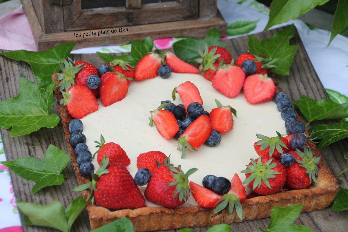 Tarte panna cotta au chocolat blanc et fraises