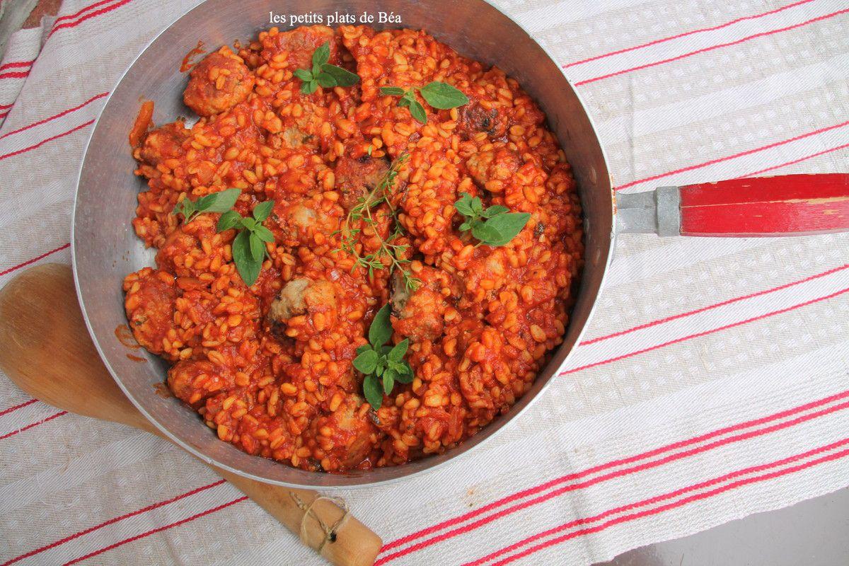 Boulettes de veau  et ebly à la sauce tomate - Balade à Rome (4) l'église San Luidi Dei Francesi