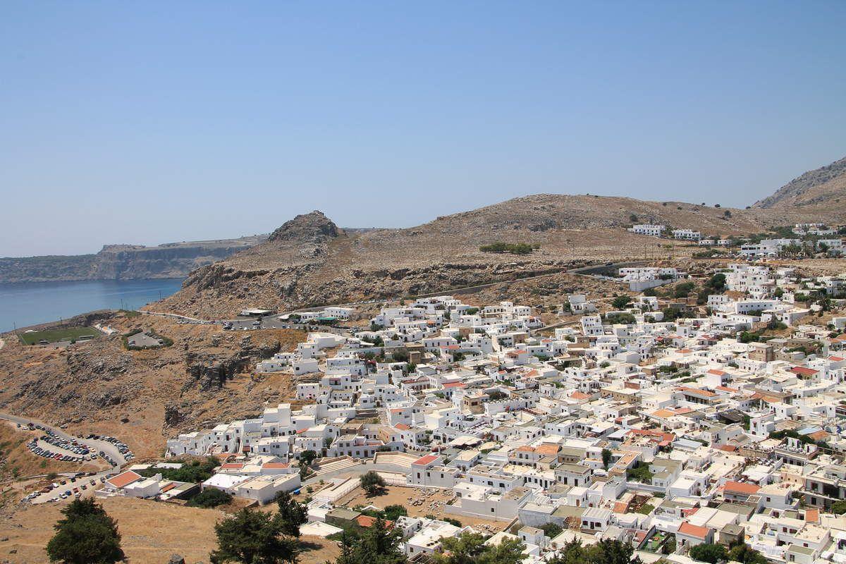 Gratin de courgettes à la grecque - Grèce (6) Ile de Rhodes, Lindos