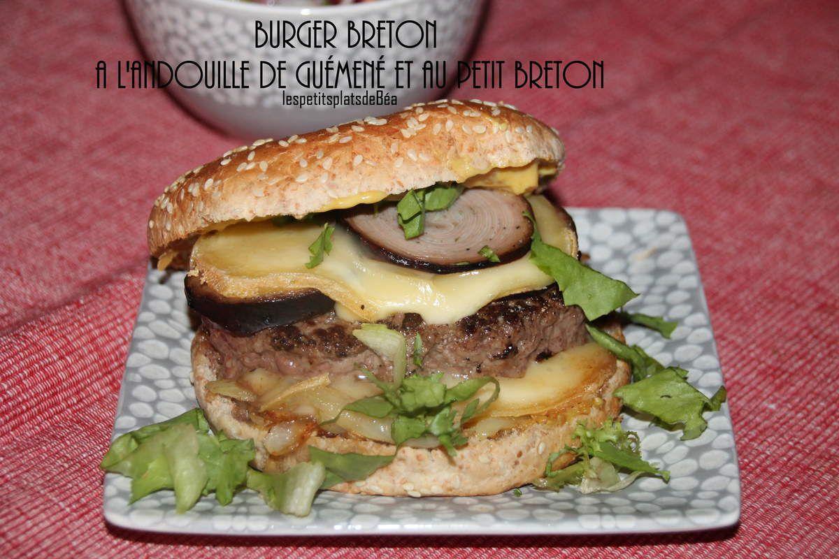 Burger breton à l'andouille de Guéméné et au petit breton