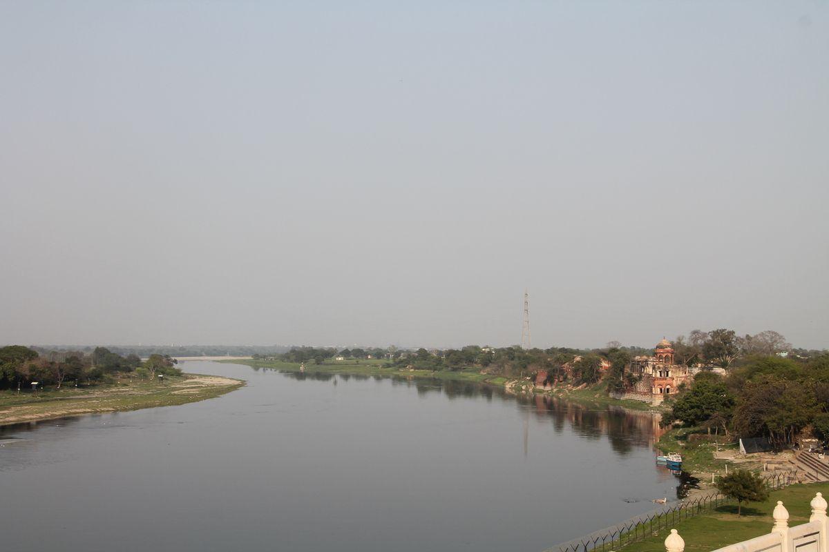 la rivière Yumanu vue du Taj Mahal