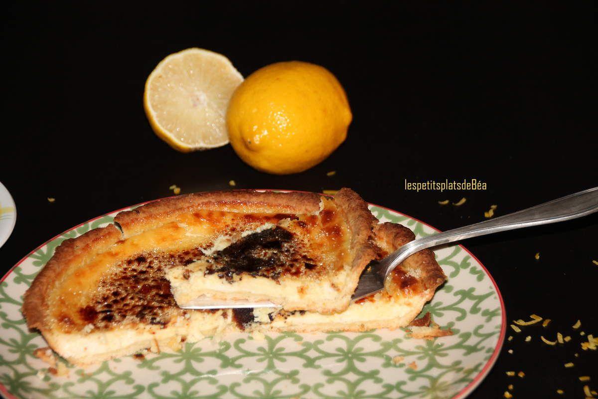 Tarte crème brûlée au citron
