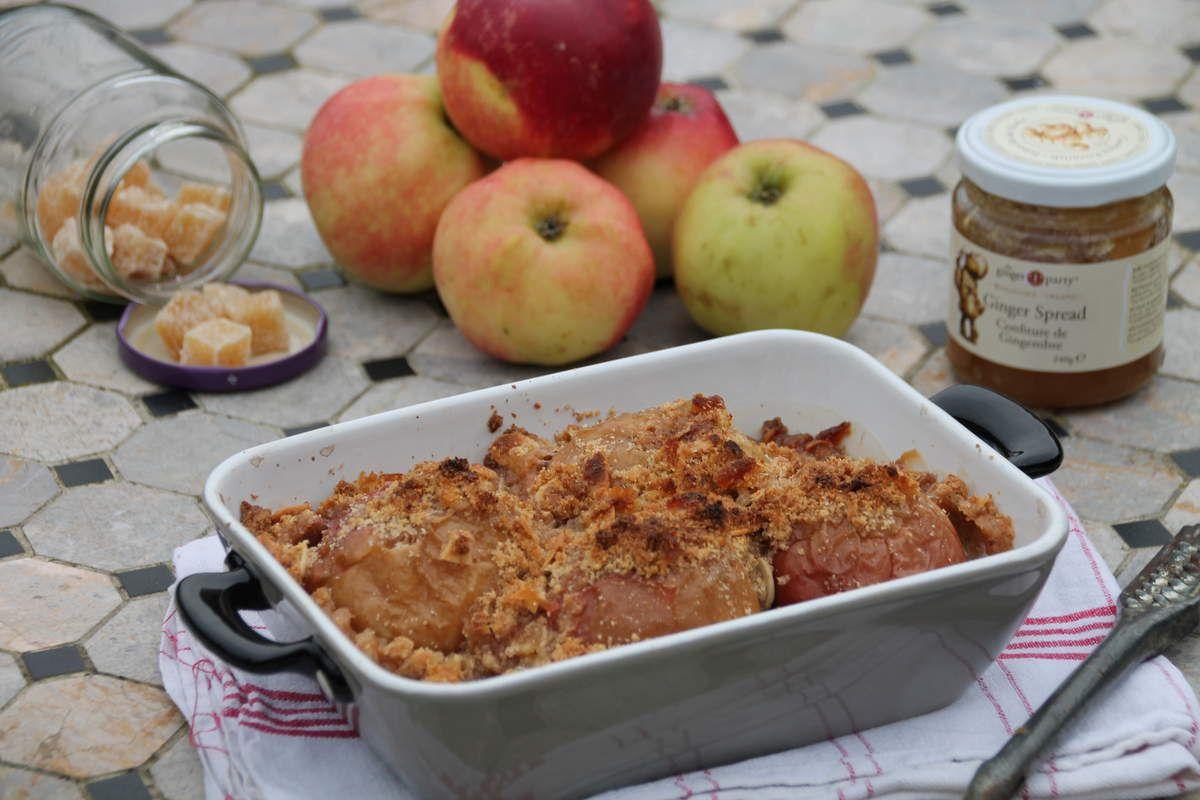 Crumble de pommes au four au gingembre