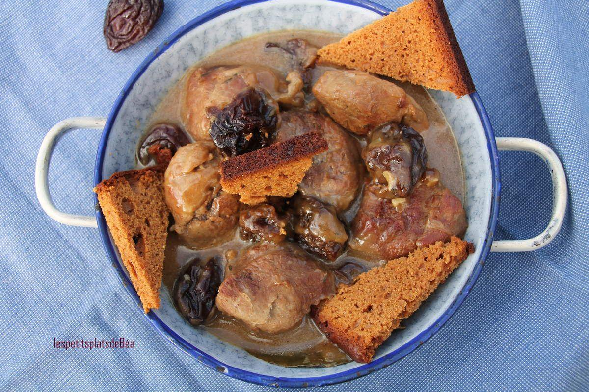 Sot-l'y-laisse de dinde aux pruneaux - courge à la pistache rôtie au four