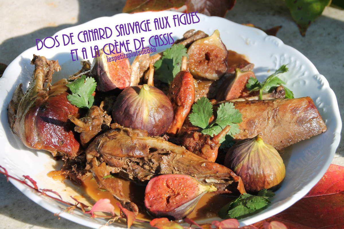 Dos de canard sauvage aux figues et à la crème de cassis
