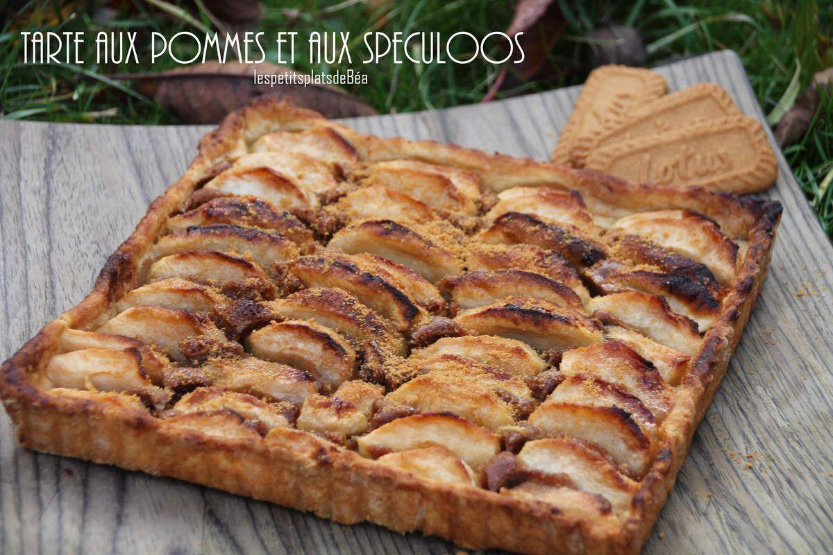 tarte aux pommes et aux spéculoos