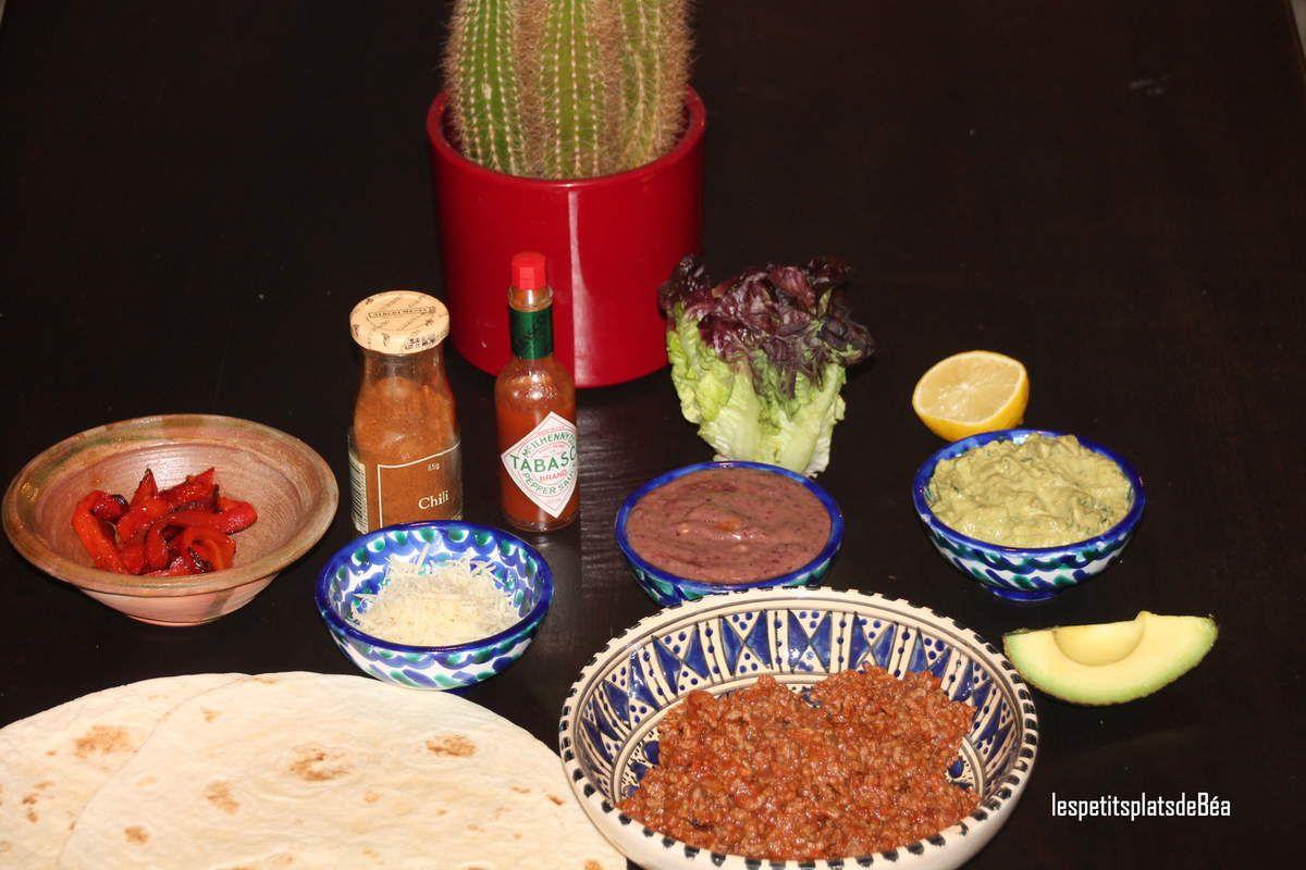 Burritos au boeuf et guacamole -
