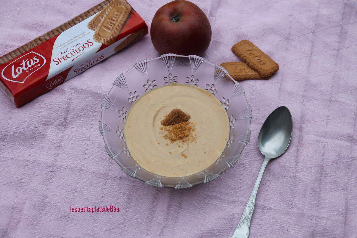Compote de pommes onctueuse à la crème de spéculoos