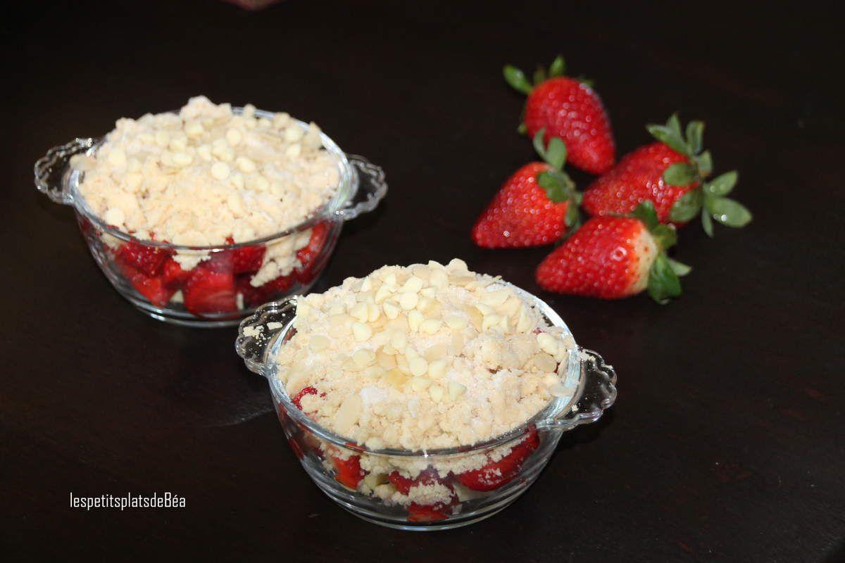 Crumble fraises et chocolat blanc