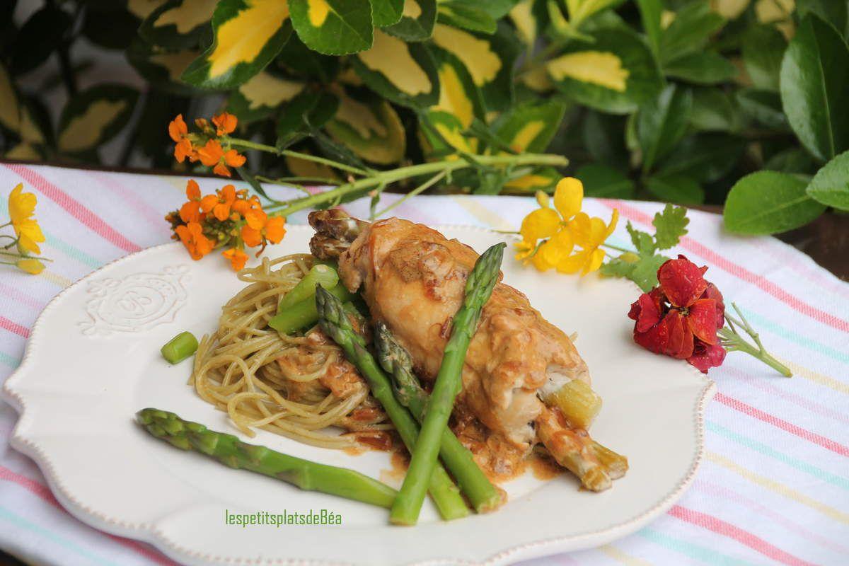 Filet de poulet farci aux asperges vertes
