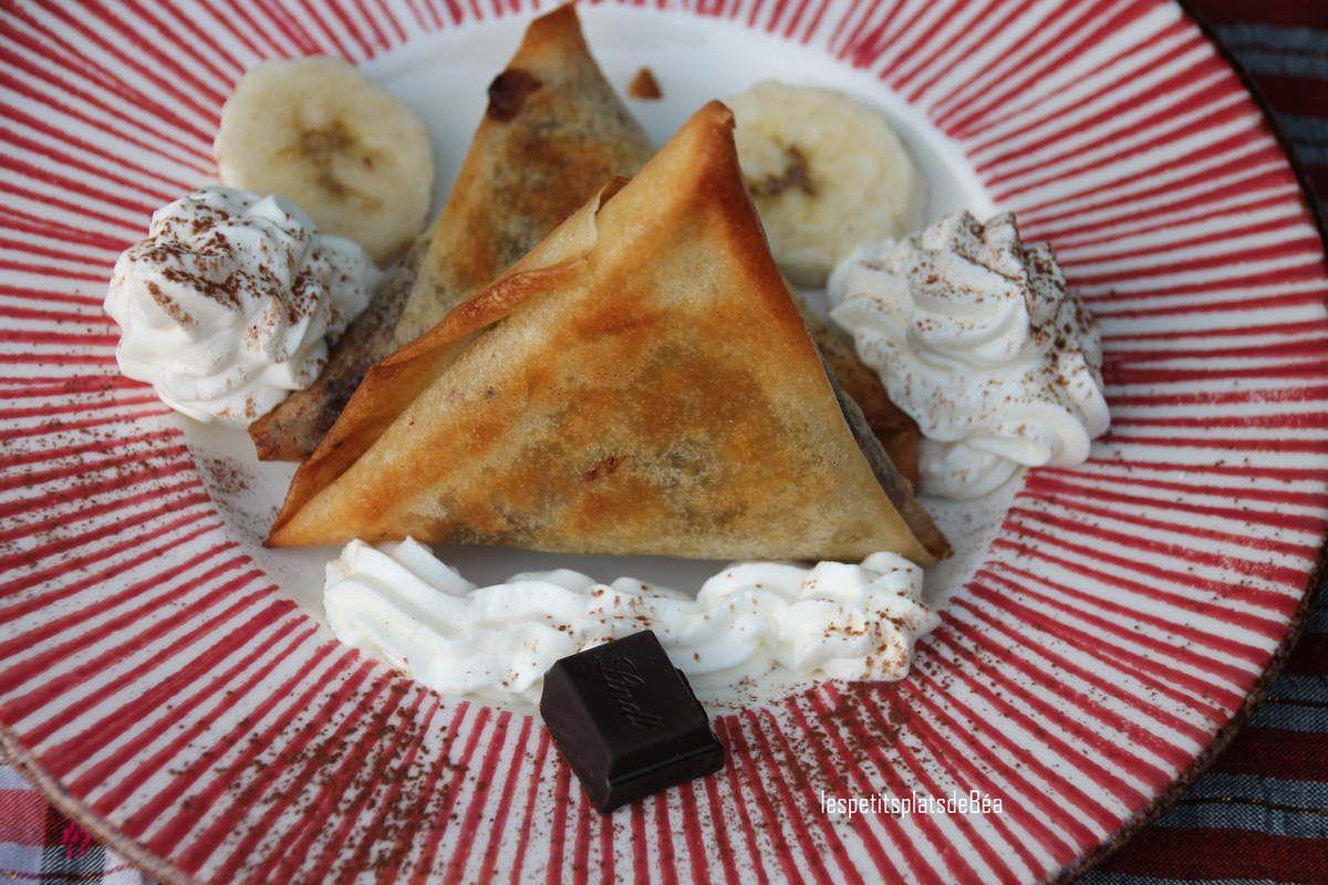 Samoussas banane-choco et chantilly au rhum martiniquais - Tea Time Challenge #2
