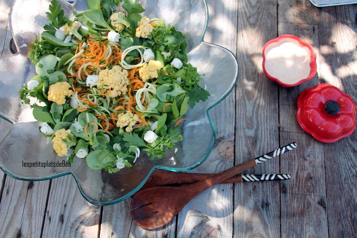Salade de retour de marché
