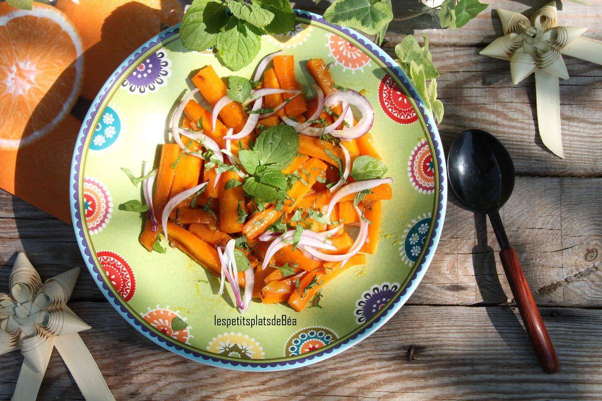 Salade de carottes à l'orange et à la menthe bergamote