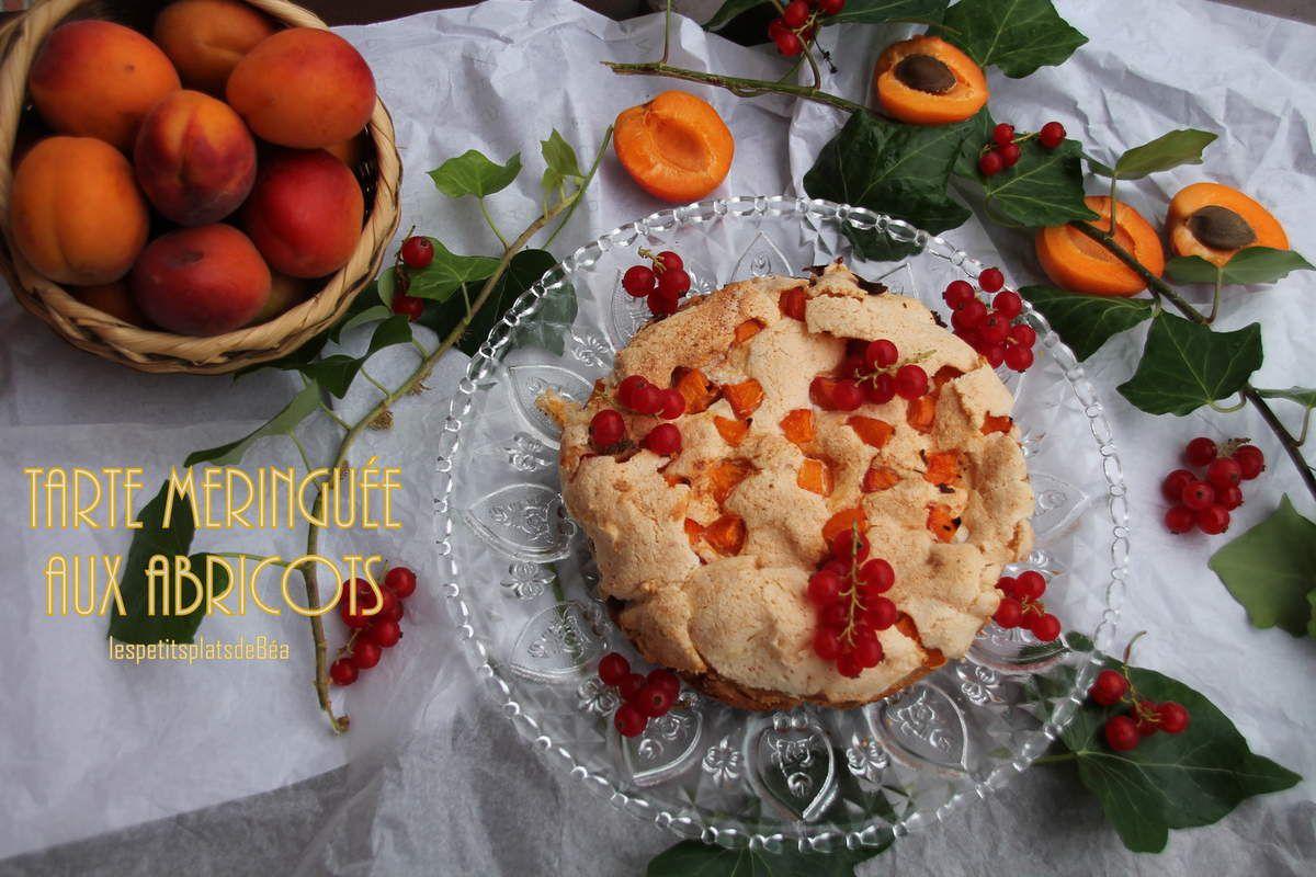 Tarte meringuée aux abricots