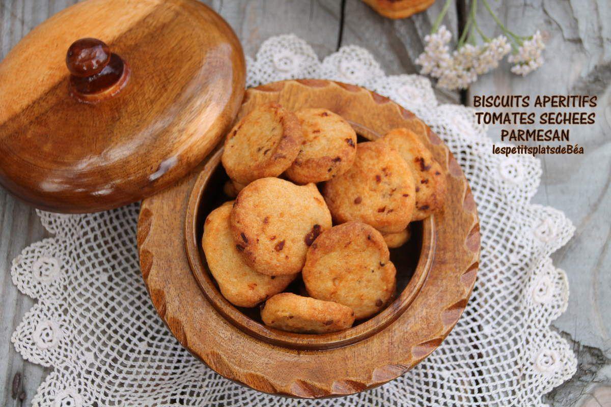 Biscuits apéritifs tomates séchées et parmesan
