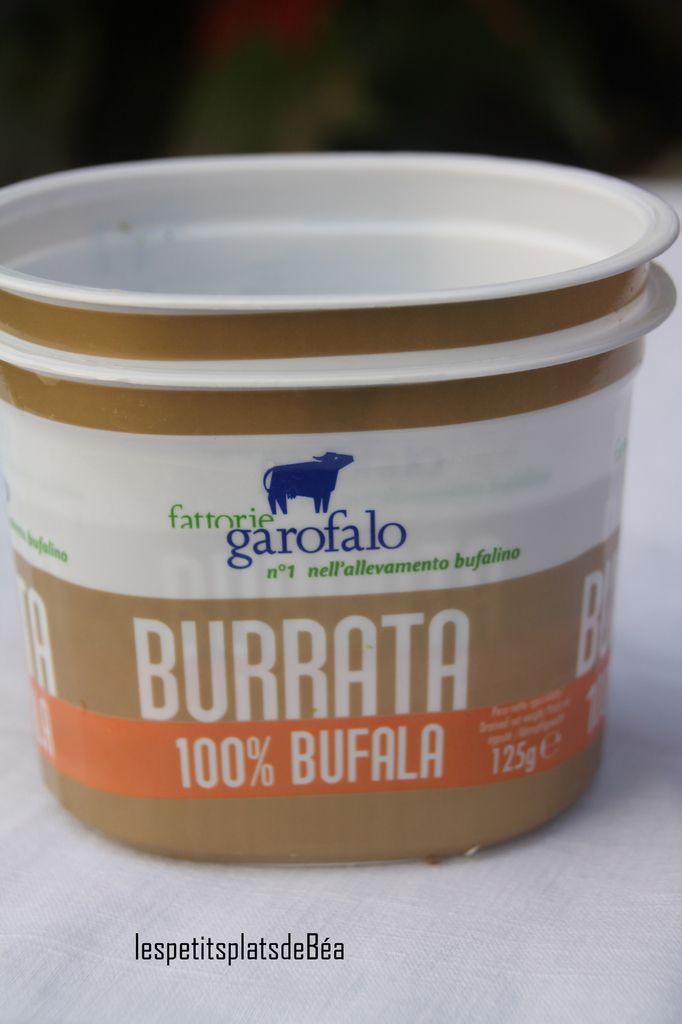 Crème de brocoli pour une burrata au lait de bufflonne