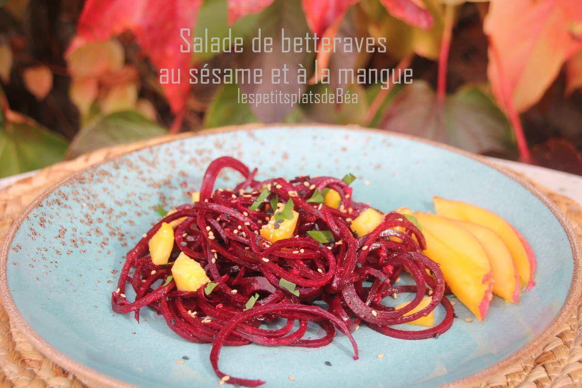 Salade de betteraves au sésame et à la mangue