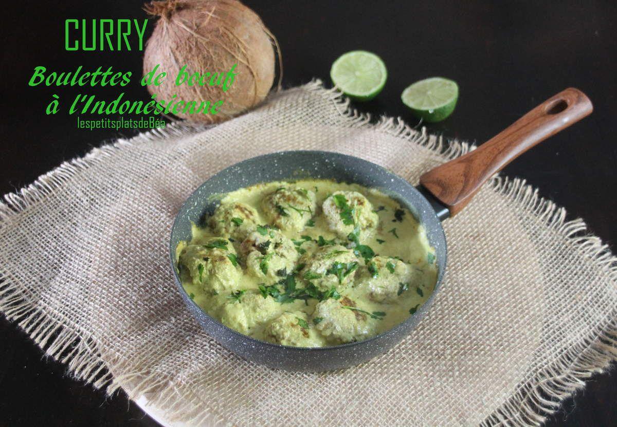Curry de boulettes de boeuf à l'indonésienne