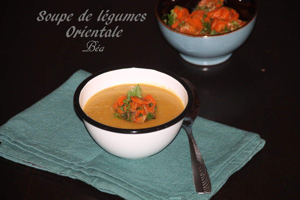 Soupe de légumes orientale