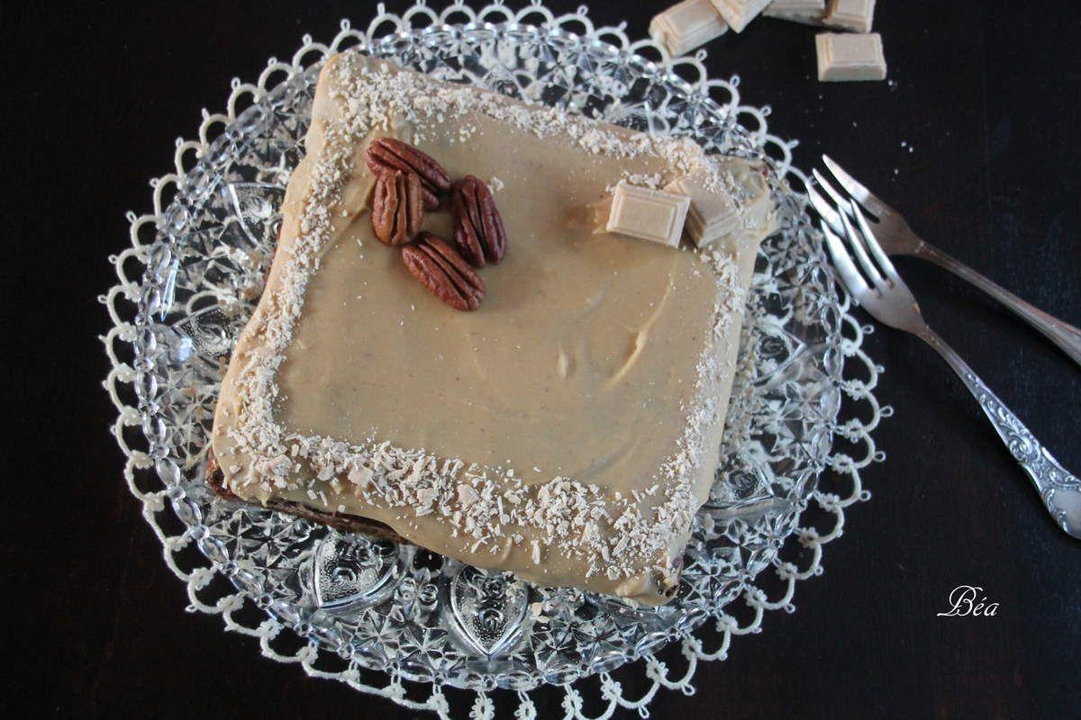 Gâteau aux noix de pécan et choco-café