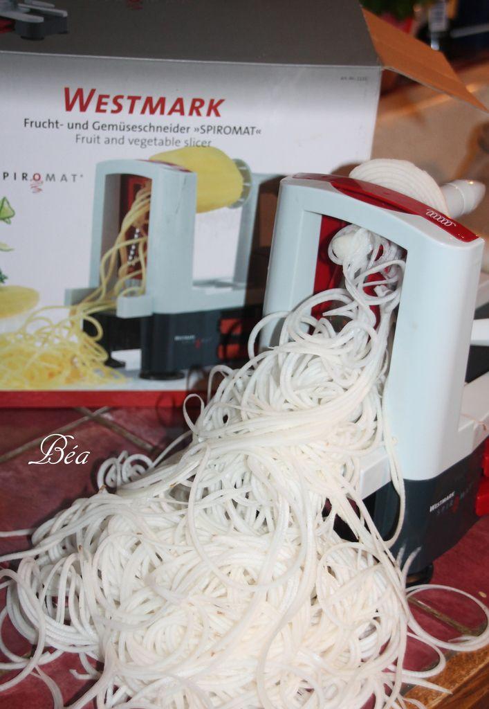 Spaghettis de navets à la carbonara