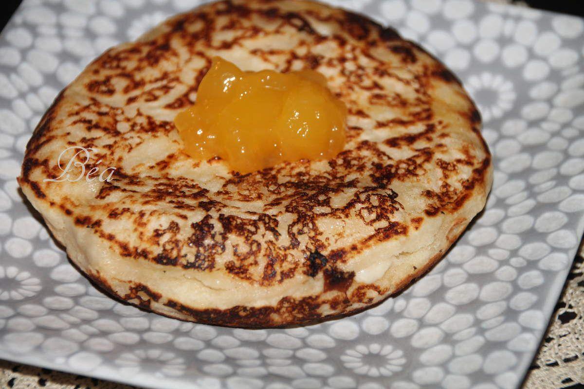 Pancakes au citron zébré