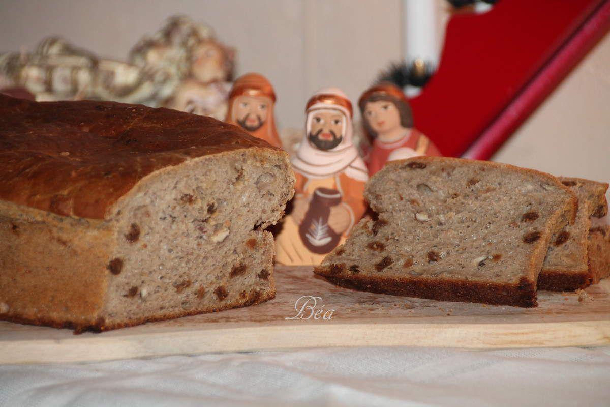 Coquille de Noël  à la farine de châtaigne, aux figues et aux noisettes