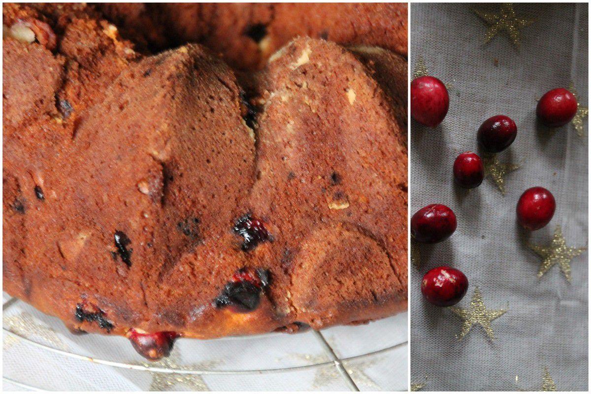 Bundt cake aux cranberries