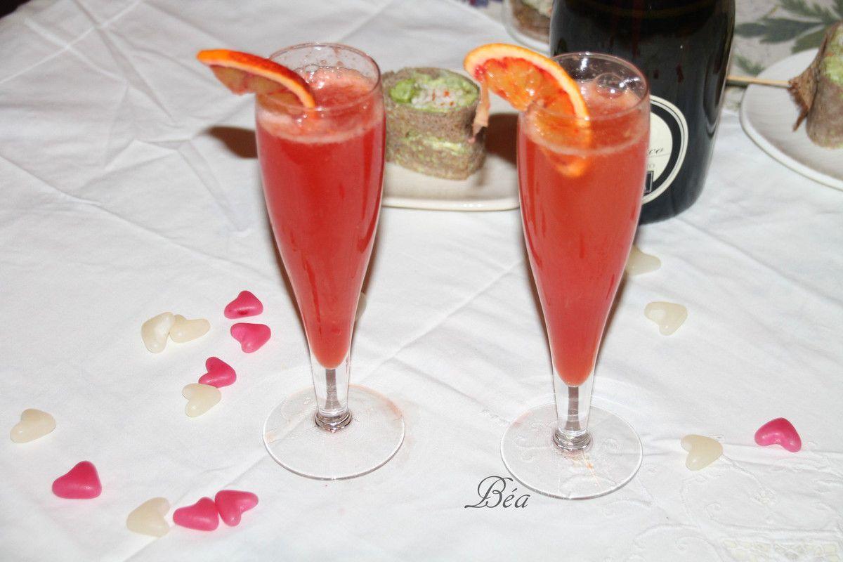 Cocktail pétillant campari et orange sanguine