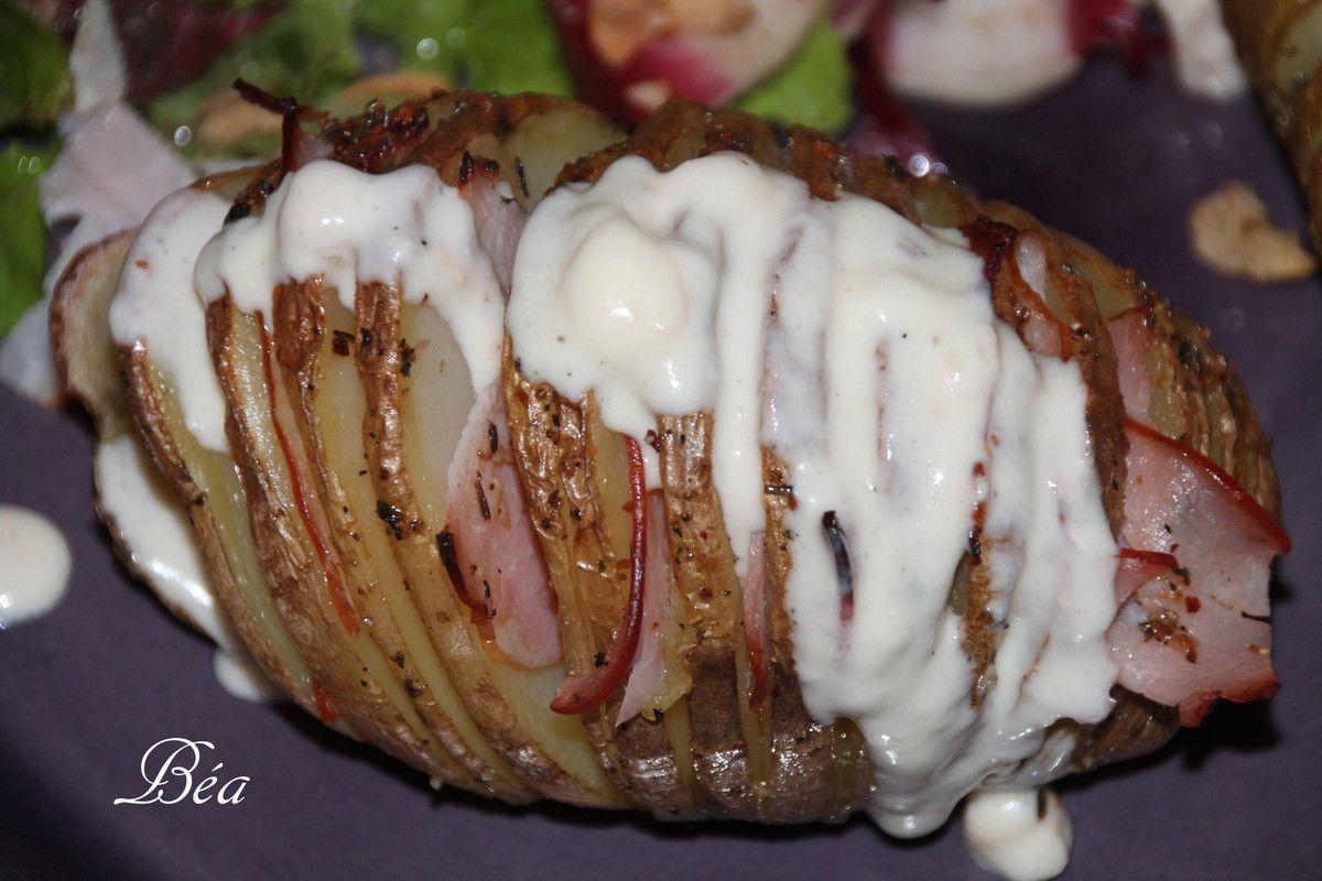 Duo de patates kasselback au bacon sauce maroilles