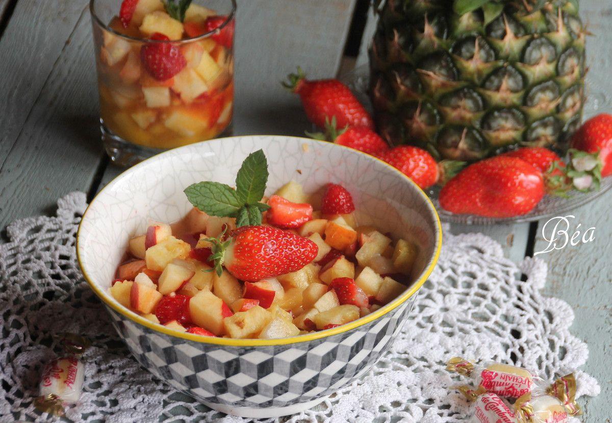 Salade de fruits à la Bêtise de Cambrai